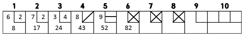 scoring frame 8